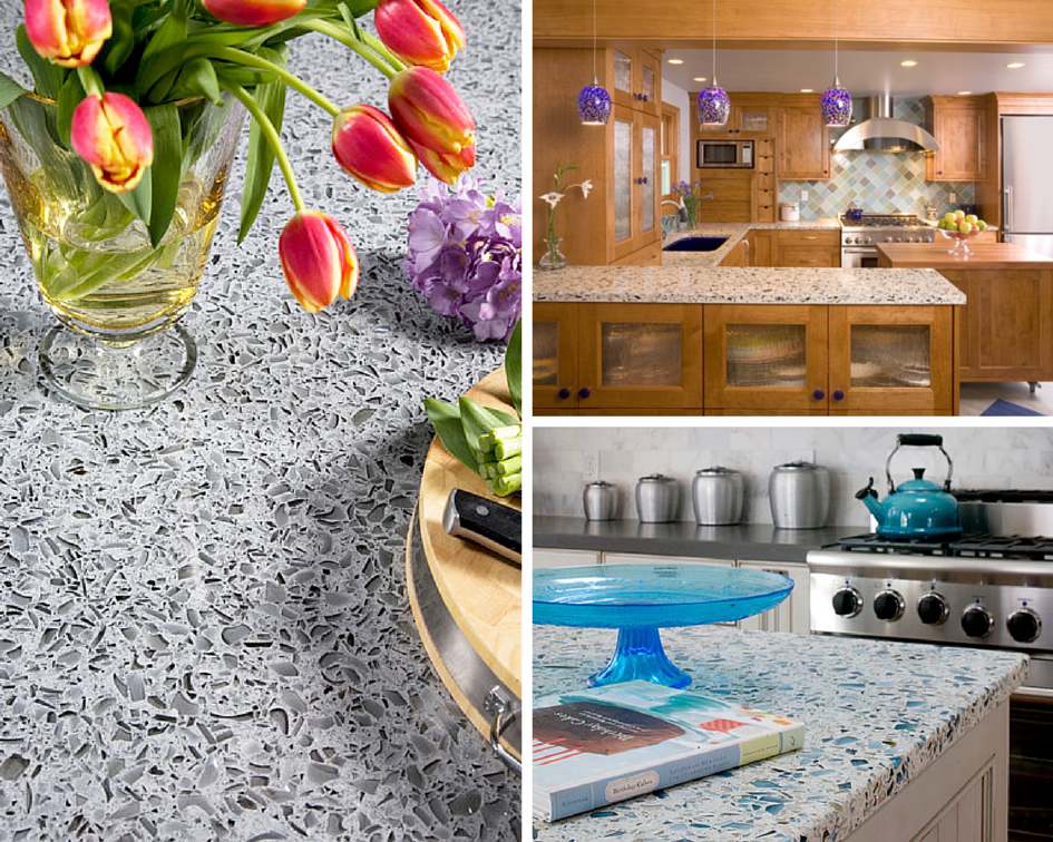 Recycled Glass Kitchen Countertop