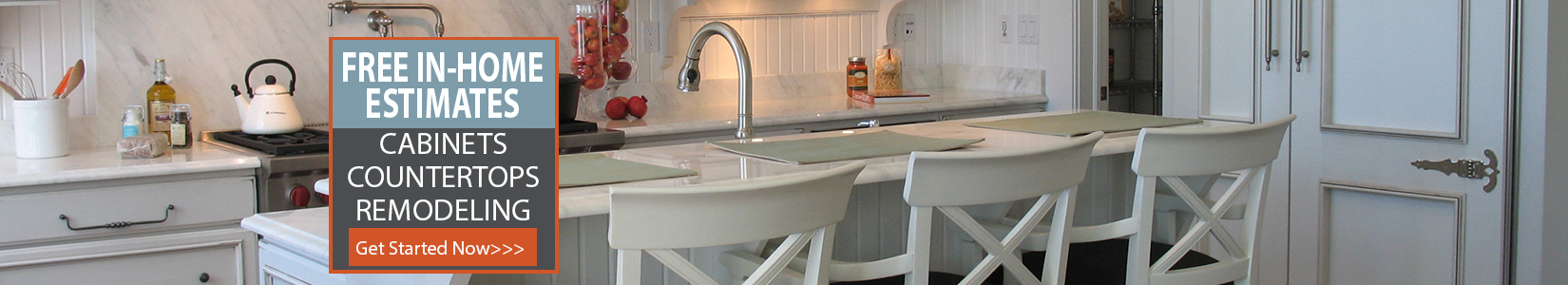 Free in home estimates for cabinets and countertops remodeling