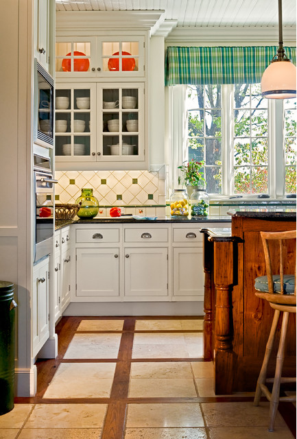 Mixed Materials in a Kitchen's Flooring