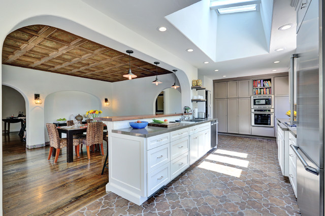 Spanish Style Flooring in Kitchen